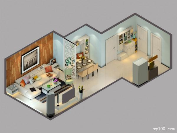 田园风格客厅效果图 巧妙装修有妙方_维意定制家具商城