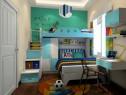 欢乐儿童房效果图 9�O上下床陪伴孩子成长_维意定制家具商城