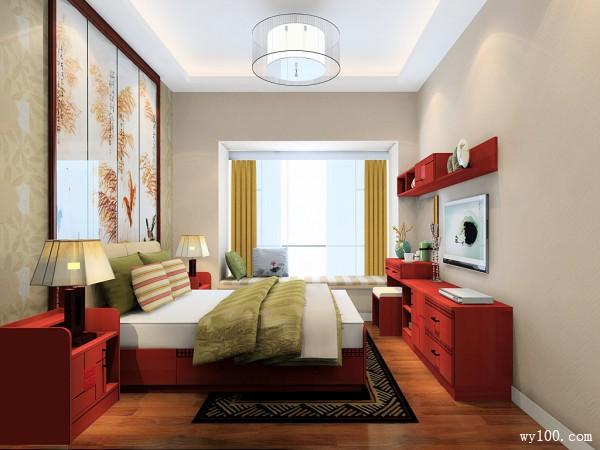 中式卧室效果图 15�O中国风探秘东方美_维意定制家具商城