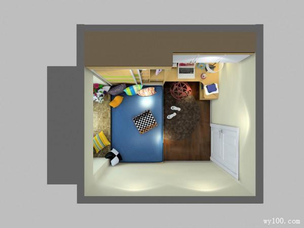 小户型卧室效果图 出些金点子让9�O卧室变大_维意定制家具商城