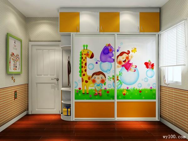 多彩儿童房效果图 设计师出招解决10�OL型户型_维意定制家具商城