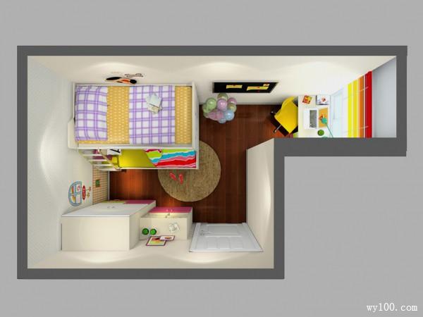 梦幻儿童房效果图 11�O小小人儿小心思_维意定制家具商城