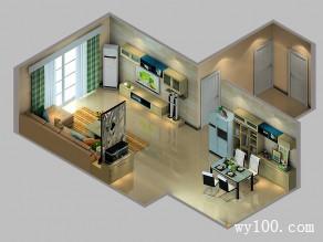 清新客餐厅效果图 78�O宽敞亮丽春意盎然_维意定制家具商城