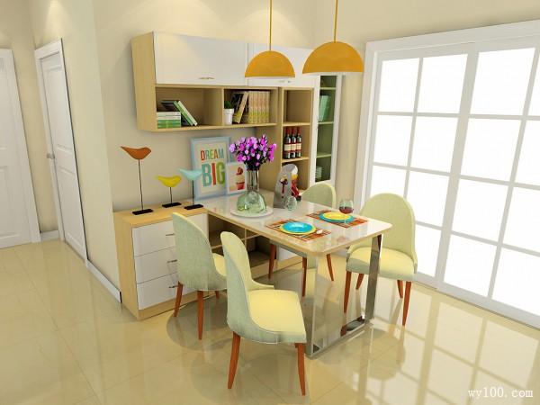 明亮客餐厅效果图 21�O带来愉悦好心情_维意定制家具商城