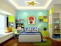 清新儿童房效果图 10�O大面积绿化保护视力_维意定制家具商城