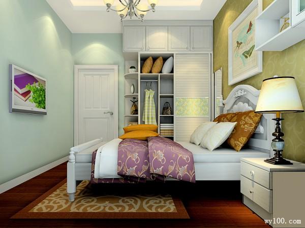 美式卧室效果图 9�O典雅公主理想型卧室_维意定制家具商城