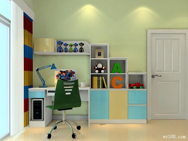 储物儿童房效果图 再也不怕放不下玩具了_维意定制家具商城