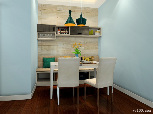 精致客餐厅效果图 46�O回归自然的浪漫情怀_维意定制家具商城