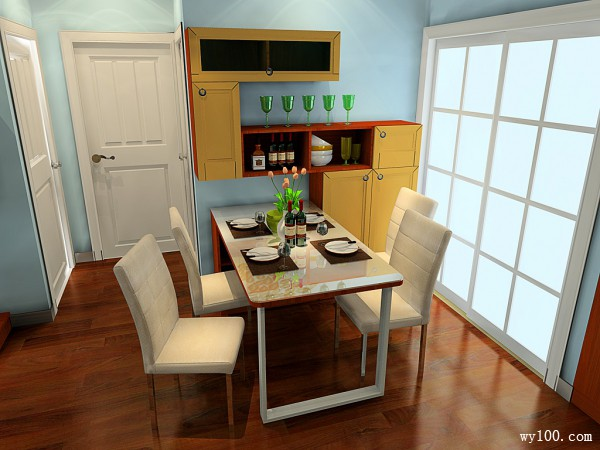 东南亚客餐厅效果图 37�O美味与美景的惬意空间_维意定制家具商城
