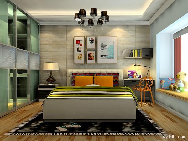 实用卧室效果图 简洁精致16�O实用U型衣帽间_维意定制家具商城