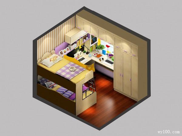 小户型儿童房效果图 8�O飘窗利用无懈可击_维意定制家具商城