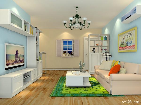 客餐厅一体效果图 20�O定制收纳型家具省空间_维意定制家具商城