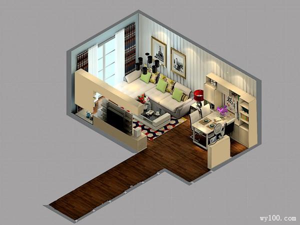 客餐厅装修效果图 巧妙让家多出5�O_维意定制家具商城