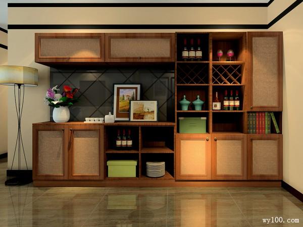 大气稳重客餐厅效果图 98�O舒适与现代_维意定制家具商城