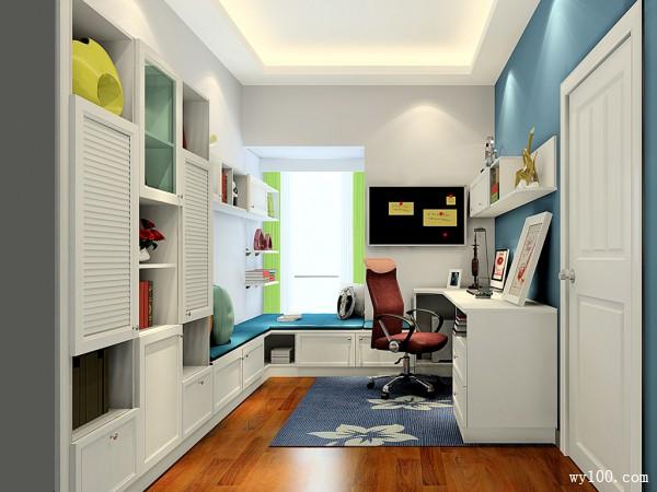 英伦风格书房效果图 7�O纯净与时尚_维意定制家具商城