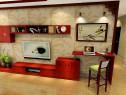 新古典客餐厅效果图 49�O中国红引领家居潮流_维意定制家具商城