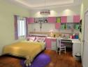 温馨儿童房效果图 10�O小房间摆放大床无压力_维意定制家具商城
