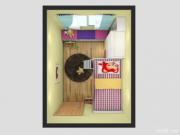 温馨儿童房效果图 8�O精心打造让孩子爱上学习_维意定制家具商城