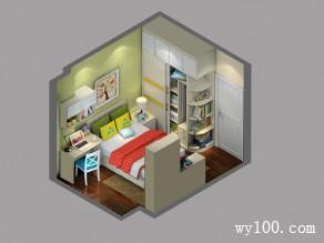温馨色调为主儿童房 窗口边设计书桌方便学习_维意定制家具商城