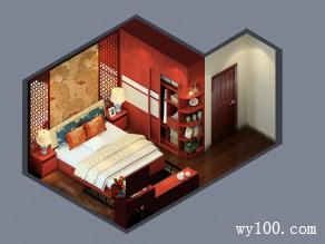 喜庆卧室效果图 12�O脱俗的设计历久弥新婚房_维意定制家具商城