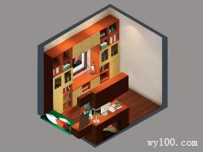 古色古香书房 柜体结合透出了中式风_维意定制家具商城