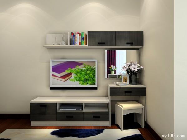 现代吊柜卧室装修效果图