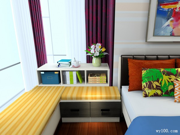 欧式现代卧室 简约与优雅同在_维意定制家具商城