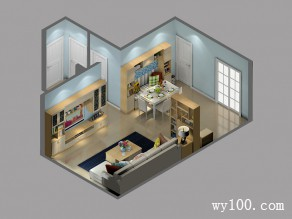 现代简约客餐厅 卡座设计增添浪漫_维意定制家具商城