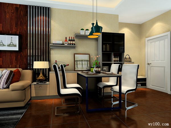 欧式客餐厅效果图 35�O一招放大小客厅_维意定制家具商城