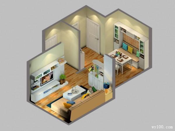 田园客餐厅效果图 35�O对付凹位有妙招_维意定制家具商城