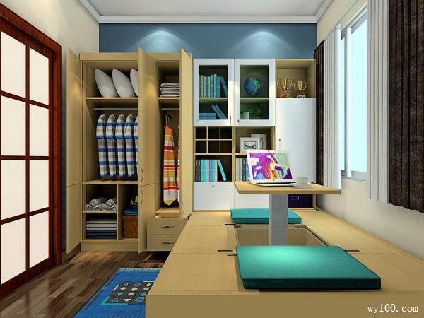 卧室装修效果图 6�O功能分区合理_维意定制家具商城