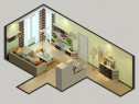 一米阳光门窗 19�O原木质感温馨客餐厅_维意定制家具商城