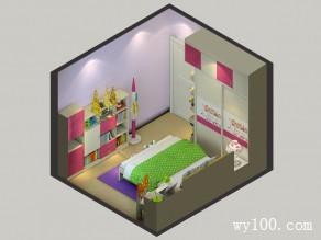 温馨儿童房效果图  10�O像紫罗兰一样的芬芳_维意定制家具商城