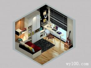 书房装修效果图 8�O整体简洁时尚_维意定制家具商城