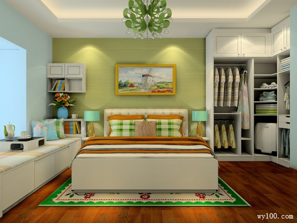 田园风卧室效果图 谁说小房跟大衣柜不可并存_维意定制家具商城