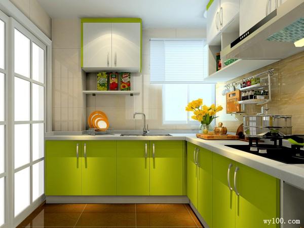 厨房装修效果图  6�O麻雀虽小应有尽有_维意定制家具商城