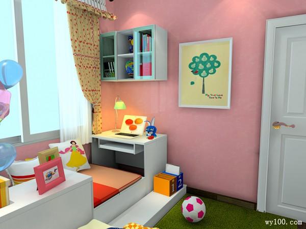 简约梳妆柜儿童房装修效果图