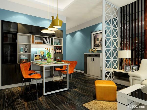 客餐厅装修效果图 22�O增加生活情趣_维意定制家具商城