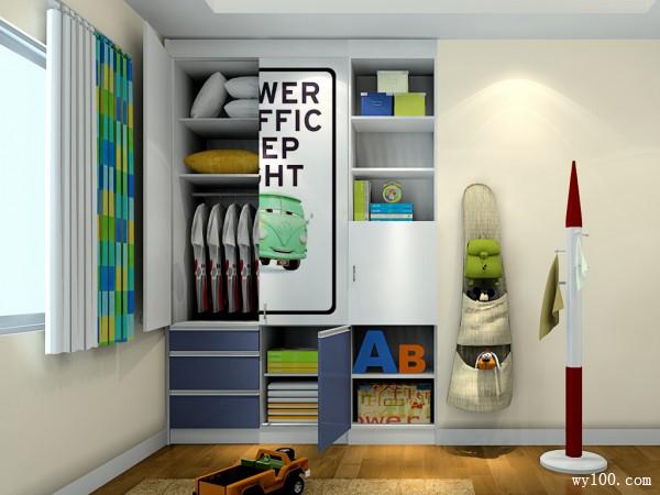 可爱儿童房间 7�O装点上孩子最爱的蓝胖子_维意定制家具商城