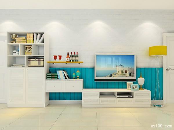 客餐厅装修效果图 37�O整个空间充满活力_维意定制家具商城