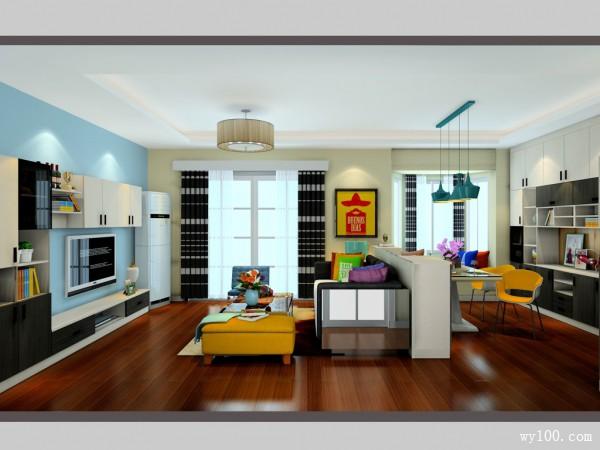 客餐厅装修效果图 29�O既大气又时尚_维意定制家具商城