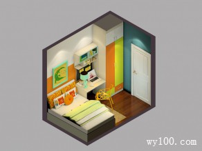 儿童房装修效果图 31�O充满青春活力_维意定制家具商城