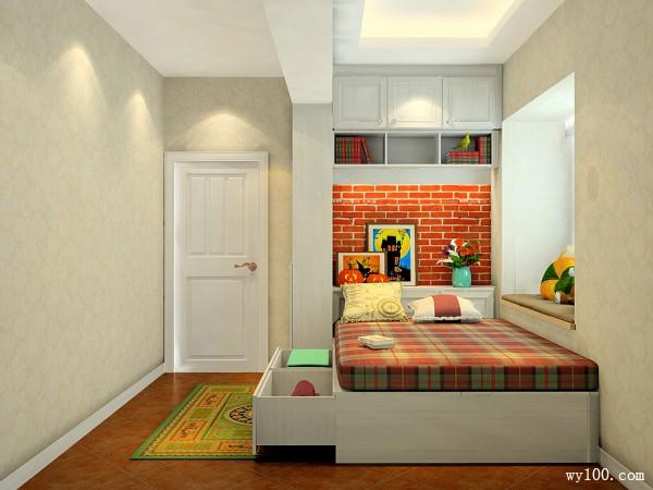 简约吊柜卧室装修效果图