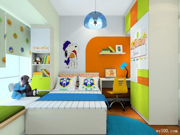 时尚榻榻米儿童房装修效果图
