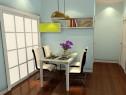 开放式客餐厅效果图 31�O整体的风格清晰简约_维意定制家具商城
