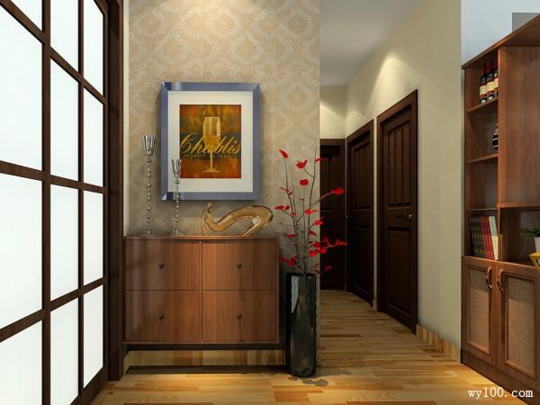 复古装饰柜客餐厅装修效果图