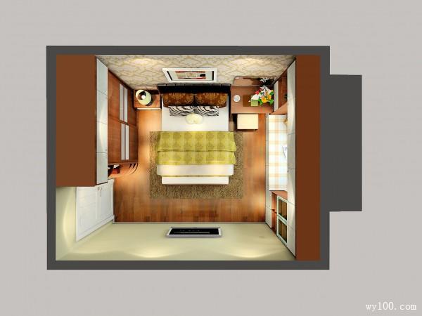 欧式卧室效果图 12平米色彩搭配清爽_维意定制家具商城