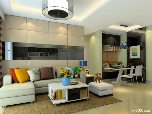 小户型客餐厅效果图  21�O简约中装出豪华_维意定制家具商城