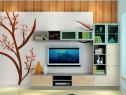 客餐厅背景墙效果图 44�O上演秋天的童话_维意定制家具商城