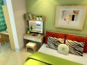 舒适田园卧室效果图 22�O呼吸绿色空气_维意定制家具商城